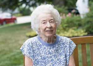 alice Angus, resident of the mt. carmel rehabilitation and nursing center