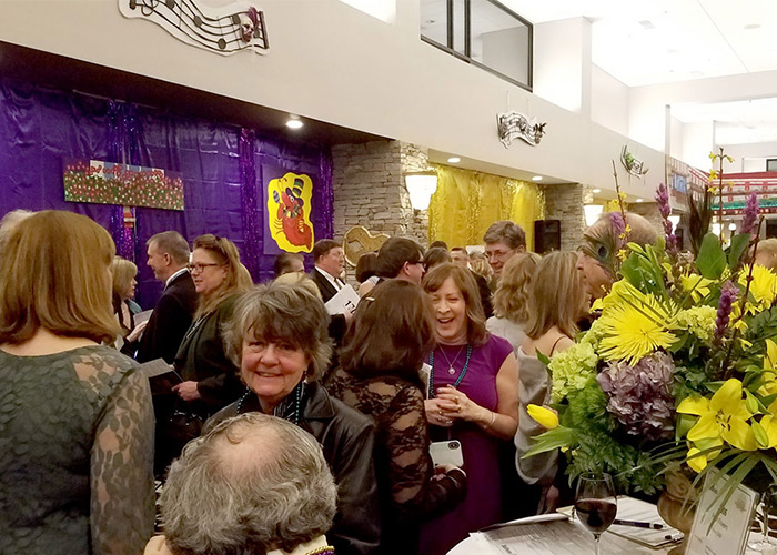 Guests at the 2018 Mardi Gras Gala in Concord, NH.