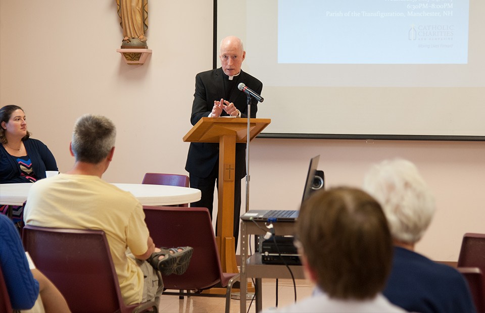 CCNH Director of Clinical Services, John Mahoney, speaking at a public session.