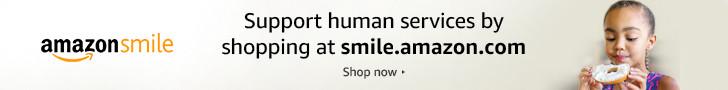 Support human services by shopping at smile.amazon.com