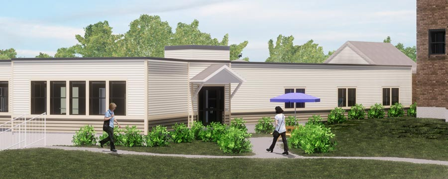 rendering of the renovations at the st francis rehab and nursing center