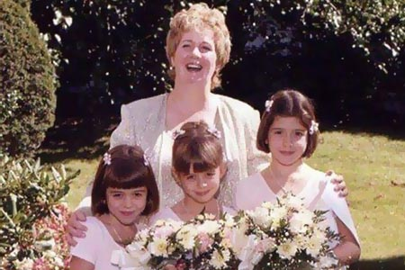 Rita with her mother and sisters.
