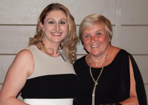 St. Teresa RN Amanda Shepard (left) with New Hampshire Long Term Care Foundation (LTCF) president and St. Teresa administrator Luanne Rogers at the 2018 Evening of Celebration & Scholarship Dinner on October 3, at LaBelle Winery in Amherst, NH.