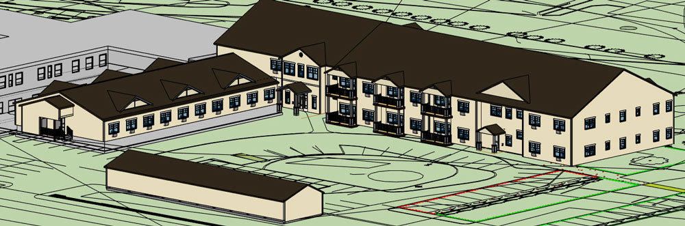 Design of Warde's future independent living facility and assisted living wing in Windham, NH.