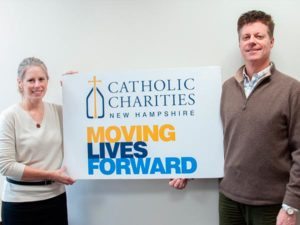 Catholic Charities New Hampshire President and CEO Thomas Blonski and Monadnock at Home Executive Director Sandra Faber