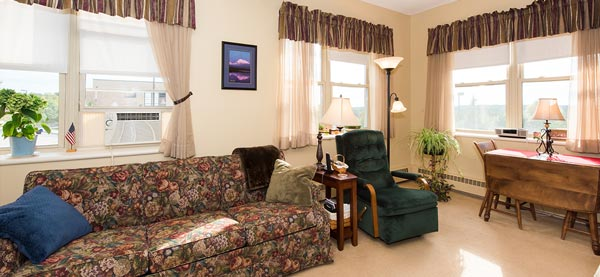One of the apartments at the Bishop Gendron Senior Living Community.