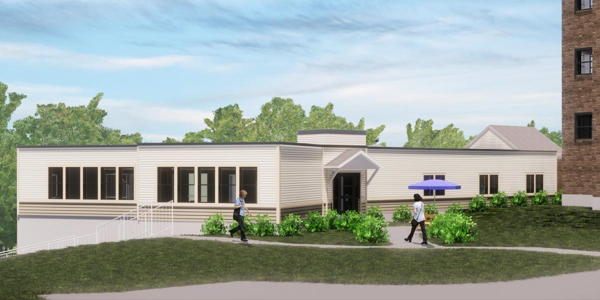 rendering of the renovations to the st. francis rehabilitation and nursing center in laconia, NH.