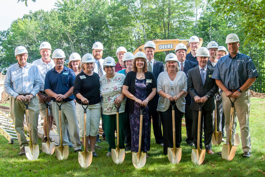 Group photo at the St. Francis Rehab and Nursing Center groundbreaking